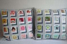 Thanks to my partners in the Polaroid Greeting Swap! Quilt Baby, I Spy Quilt, Sewing Pillows, Diy Pillows, Custom Pillows, Pillow Ideas, Quilting Projects, Quilting Designs, Sewing Projects