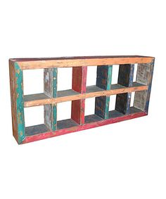 Look what I found on #zulily! Macedon Recycled Teak Horizontal Display Case #zulilyfinds