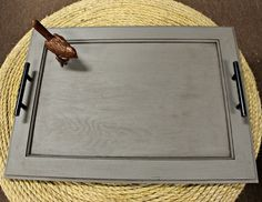 How To Make A Serving Tray Out Of An Old Cabinet Door