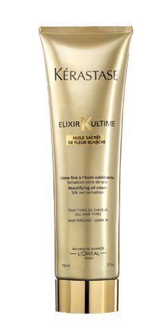 Kerastase Elixir Ultime Crème Fine - Dry Hair Leave-In Conditioner Kerastase Elixir Ultime, Mascara, Hair Care, Soften Hair, Frizz Control, Bleach Blonde, Leave In Conditioner, Hair Repair, L'oréal Paris