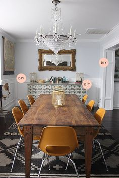 "Before & After: A Dreamy Dining Room With A ""Budgeteer"" Price, Design*Sponge"