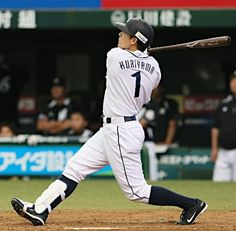 Captain Takumi Kuriyama #1 goes yard with his 1st of the 2013 postseason, a 3-run home run to right field off Marines reliever Takahiro Fujioka in the bottom of the 4th inning to pad the Lions' lead over the Marines to 8-0 at Seibu Dome on October 13, 2013 in Tokorozawa, Saitama.