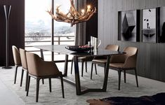 Black Dining Room | http://moderndiningtables.net/ #luxuryfurniture #luxurydesign #bespoke #furnituredesign #diningtable #luxuryfurniture #diningroom #interiordesign #moderndiningtable #diningtableideas