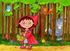 Little Red Riding Hood Creative Curriculum, Red Hood, Stories For Kids, Red Riding Hood, Little Red, Cute Kids, Fairy Tales, Craft Projects, Clip Art