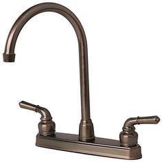 Builders Shoppe 1201BZ RV Mobile Home NonMetallic High Arc Swivel Kitchen Sink Faucet Brushed Bronze Finish * See this great product.Note:It is affiliate link to Amazon. #igaddict