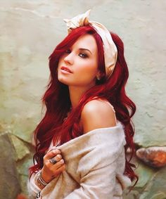 YI want red hair someday, maybe a little less vibrant but like this. SO pretty!