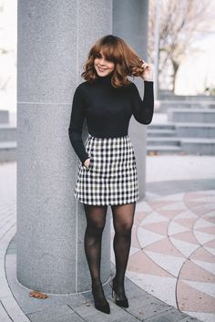 Wearing: Zara turtleneck, J.Crew plaid skirt, Sam Edelman pumps     Scored this plaid mini during J.crew's Black Friday sale and ...