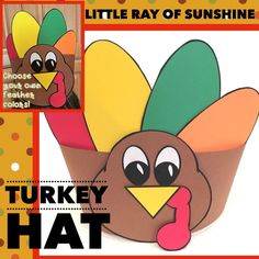 This adorable Turkey is all ready for your classroom Thanksgiving celebrations! Included are all of the black lines needed to complete this project. You can copy on colored card stock or paper or simply run the black lines to be used as templates.