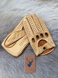 conducción guantes de cuero de los hombres