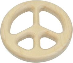 Maple Landmark Wooden Peace Sign Teether