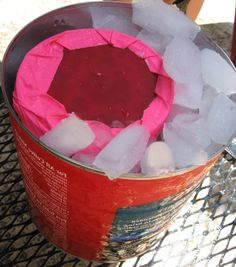 I always forget about this.  Make ice cream using two coffee cans!  Works great, super cheap, keeps kids busy, reward at the end.  Total win.
