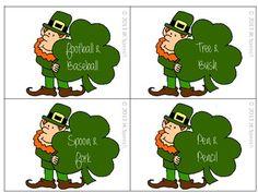 St. Patrick's Day Comparing and Contrasting Freebie! - Shelley Davis JK Speech - TeachersPayTeachers.com