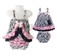 2PCS Girls Baby Toddler Kids Ruffles Top Dress Pants Bloomers Sets Costume 6-24M #Fashion #2PCSOutfitsSets #DressyEverydayHolidayPartyCasual
