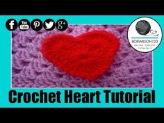 Crochet Heart Tutorial - YouTube