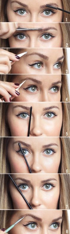 While I usually like most of the posts I've seen on her site there is much better and user friendly tutorials elsewhere on how to shape your brows.