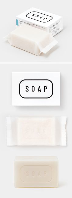 The Co. Ltd. / Matsuyama Co., Ltd. (Japan) | soap (material: soap foundation, shea butter, tocopherol) | design by Manabu Mizuno