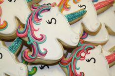 Glittery, rainbow Unicorn!!! - hayleycakes and cookies