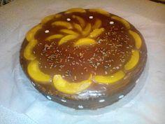 tarta de chocolate con melocoton