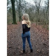 Reposting @robynhins: Just your casual monday walking through the woods.... . . . #woods #winter #iamactuallyfreezingmytitsoff #blonde #ootd #fashion #outfit