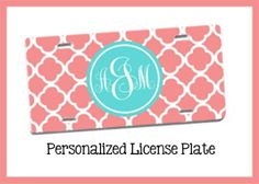 Personalized License Plate Design Your Own License by LollipopInk, $22.50