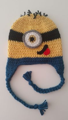 Items similar to Minion Hat Beanie  Crochet Infant Child Adult Hat on Etsy.  Minion BeanieMinion HatsMy ... f40a9eb0f58c