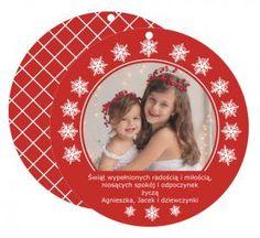 """FOTO kartka - bombka """"Red Christmas"""""""