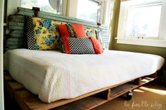 I like the backboard for the twin bed. This would be great for our guest room!