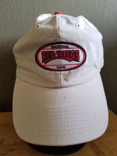 6fb37f0e VINTAGE Red Wings Baseball Hat Big Logo 965 WCMF VERY RARE Cap Adjustable  Snap #fashion #clothing #shoes #accessories #mensaccessories #hats (ebay  link)