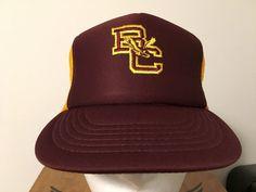 b24f1c09ff0 Vintage Boston College Mesh Trucker Hat Cap Snapback Tags  fashion   clothing  shoes