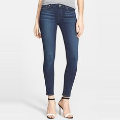 Best skinny jeans Lists for petite women | Paige Denim 'Verdugo' Skinny Ankle Jeans #rankandstyle