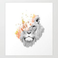 If I roar (The King Lion) Art Print by Budi Satria Kwan - $19.97