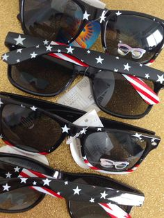 31071de0b75 Black American Flag Personalized Wayfarer Sunglasses
