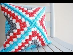 ▶ How to Crochet a Pillow: Retro Granny Square Crochet Along - YouTube