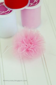 all things simple: tulle pom poms for decorating. cute.