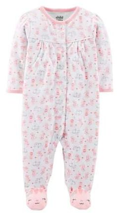 3441663d5d Carter s Child of Mine by Baby Girl Button-up Sleep  N Play Carters Baby