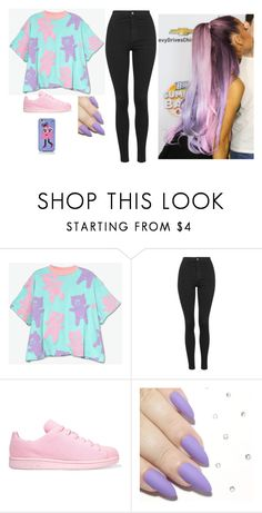 """""""."""" by biebsmahoneari5sos ❤ liked on Polyvore featuring Lazy Oaf, Topshop, adidas Originals and Kate Spade"""
