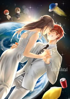 """Imagine something new that is fully out of this world. You and me, let's marry in the space station!"" ♥ by Kinlkeyl"