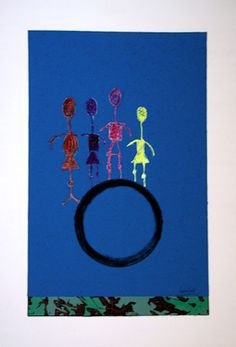 The circle the order and the disorder Polyethylene, acrylic, tempera, canvas-panel, 100x70 cm