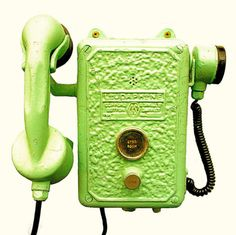 Aww, I like old phones!  Well, maybe phones not so...green.