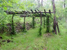 pergola- http://backwoodenterprise.com/wp-content/uploads/2010/04/Pergola-in-the-woods-.jpg