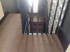 stair runners landing striped black and natural jute Jute Carpet, Striped Carpets, Black Stairs, Carpet Stairs, Laminate Flooring, Carpet Runner, Home Appliances, Rugs, Landing