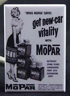 Miss Mopar Refrigerator Magnet -- This is an Amazon Affiliate link. Click image for more details.