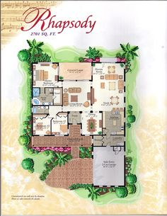 The Symphony Collection Rhapsody Floor Plan in Solivita, Kissimmee FL