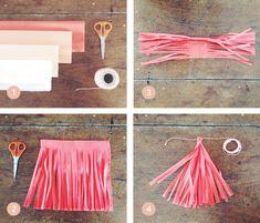 DIY: crêpepapier slingers maken - Minn blog