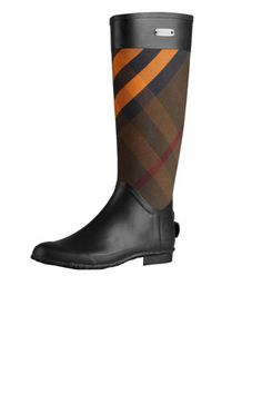 THE ACCESSORY  Burberry Clemence Check Rain Boots, $295; bloomingdales.com