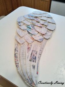 Beautiful Large Angel Wing Tutorial with paper mache by Creatively Living