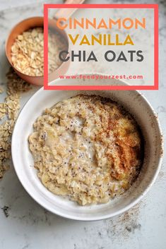How to make satisfying oatmeal // Cinnamon Vanilla Chia Oats — Charlotte NC Nutrition Therapy – Resources & Counseling for Healthy Periods & Pregnancy, Diabetes, and Eating Disorders How to make satisfying oats + recipe for Cinnamon Vanilla Chia Oats Healthy Oatmeal Recipes, Oats Recipes, Healthy Breakfast Recipes, Gourmet Recipes, Healthy Snacks, Cooking Recipes, Healthy Oatmeal Breakfast, Chia Seed Oatmeal Recipes, Chia Oatmeal Recipe