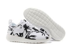 Vente Roshe Run Pour Femme - Nike Taille 39, Palm Trees Blanche