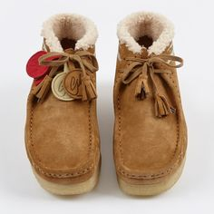 393a801b6e8e6 Clarks x Goodhood Wallabee Boot W - Cognac Suede Fur Lined