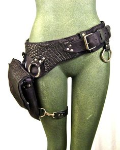 VEGAN+FAUX+leather+hip+bag+thigh+bag+burning+man+by+Renegadeicon,+$158.00